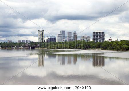 Stormy Tulsa Skyline