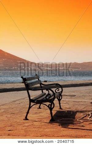 Bench - Paros, Greece