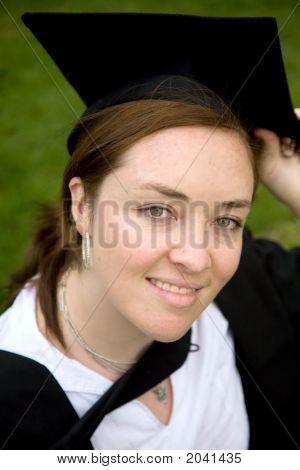 dem Abschluss an der Universität weiblich