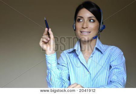 Operator'S Woman At Phone
