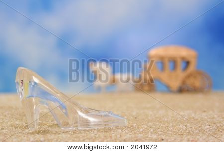 Glass Slipper On Beach