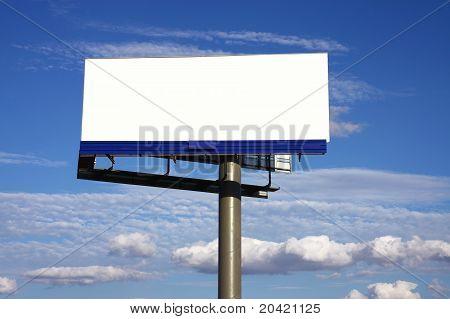 white blank big board under sky
