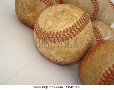 A Bunch Of Old Baseballs 4