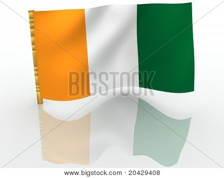 Cote d'Ivoire. National Flag