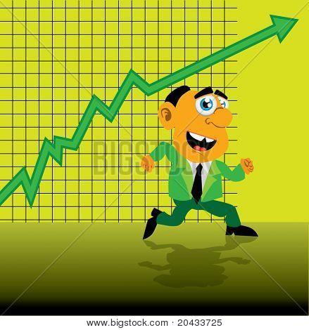 Growing green business graph