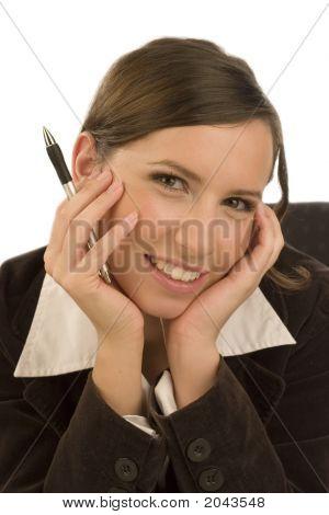 Businesswoman With Ballpen
