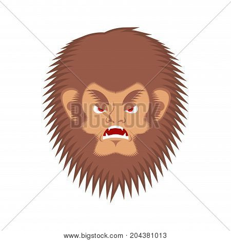 Bigfoot Evil Emotion Face Yeti