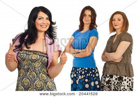 Successful Casual Women Friendship
