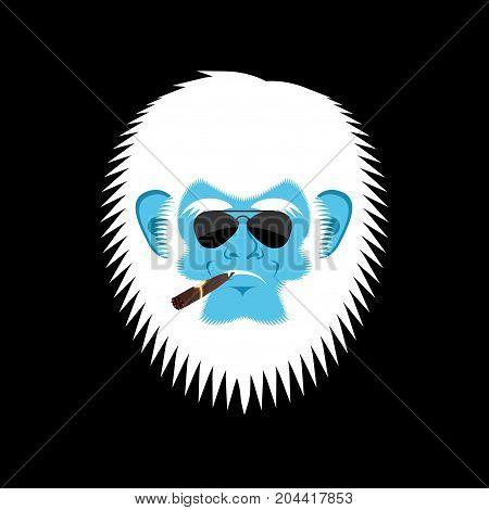 Yeti Serious Emoji Abominable Snowman