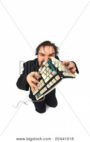 Ugly Man With Broken Keybord