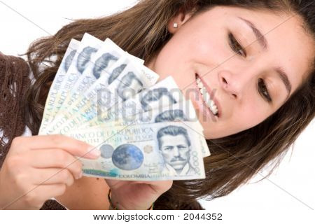 Beautiful Girl With Lots Of Money