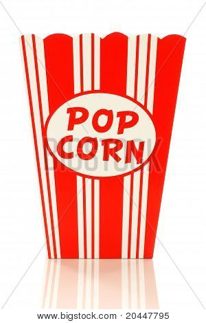 decorative empty  paper popcorn cup