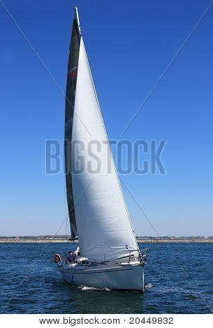 Sailing boat during a regatta