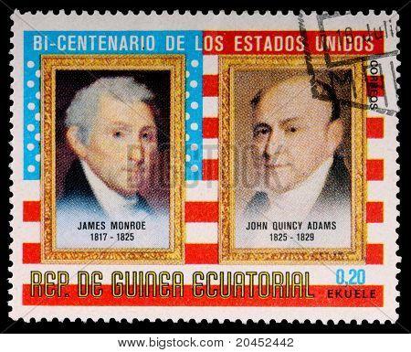 Equatorial Guinea - Circa 1975: A 0.20-ekuele Stamp Printed In The Republic Of Equatorial Guinea Sho