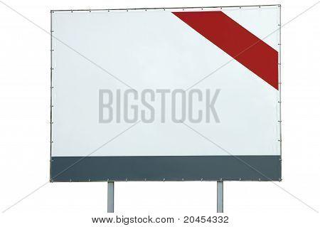 Outdoor de branco em branco com vermelho e cinza Bar e seta isolado