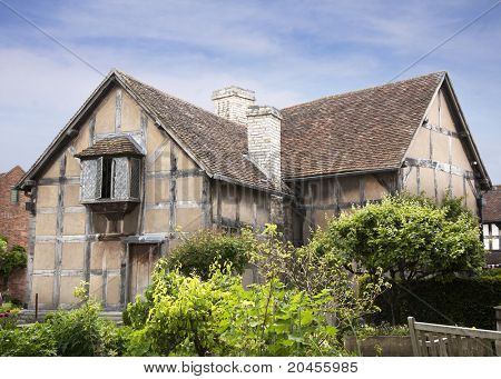A view of the house that William Shakespeare was born in, Stratford-Upon-Avon, UK