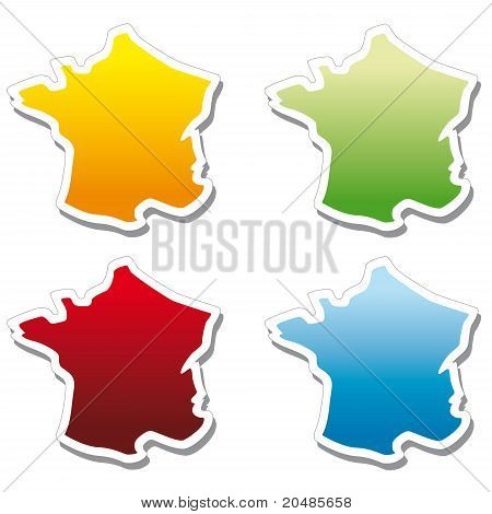 stickers in form of France