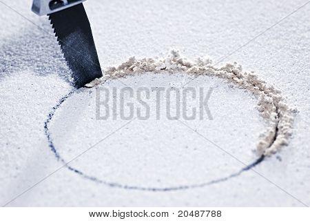 Saw Cutting Circular Hole