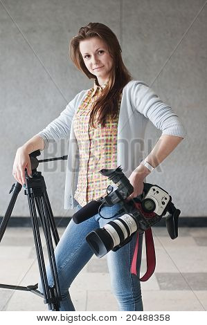 Girl With A Videocamera