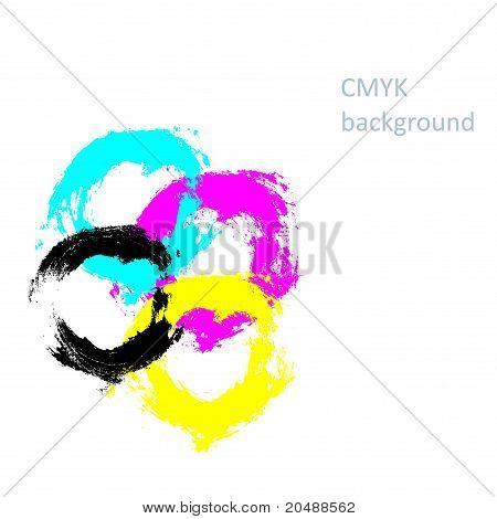 Inkblots cmyk background