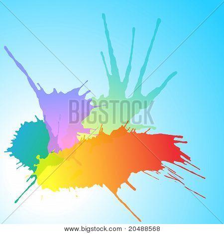Multicolor Inkblots