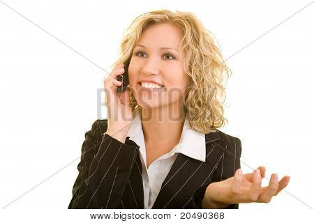 Sucessfull Woman On Cell Phone