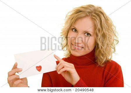 Woman With Love Letter
