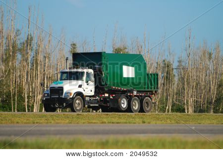 Garbage Truck On The Move