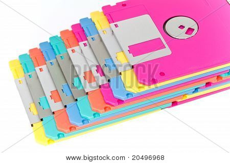 Colorful Diskette Isolation