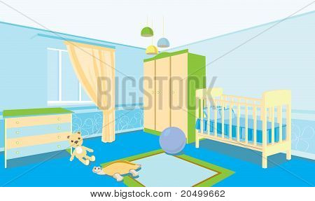 Children's Room For The Boy