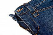 Close-Up Of Classic Blue Jean