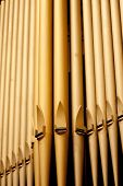foto of pipe organ  - Organ pipes at the Third Avenue United Church in the city of Saskatoon Canada - JPG