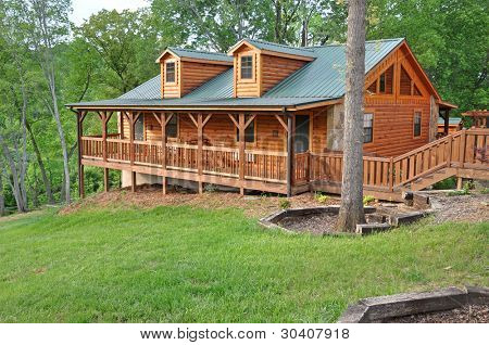 Vacation home made of logs