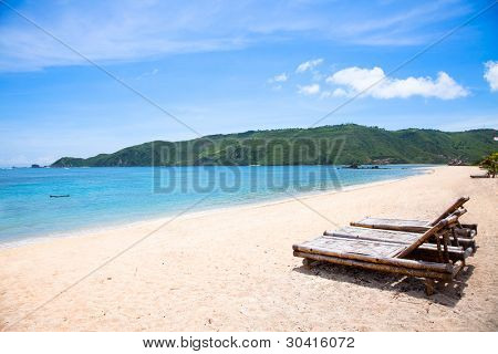 Long Kuta  sand  beach, Lombok, Indonesia