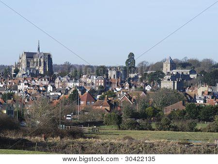 Arundel visto desde Fields.Sussex.UK