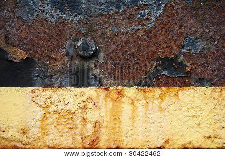 Fundo de pintura do Metal oxidado Peeling