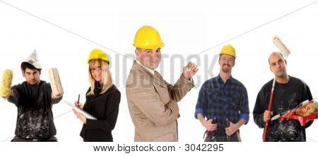 Liderazgo y equipo de trabajadores