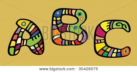 Letras color pintado