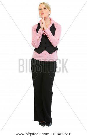 Woman Employee Praying