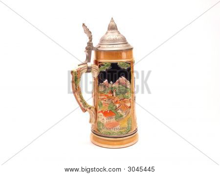 Copy Of German Beer Stein 011 Clipping File Red