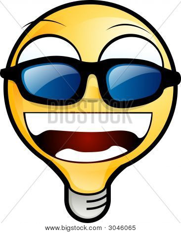 Lighting Bulb Icon - Wearing Sunglasses