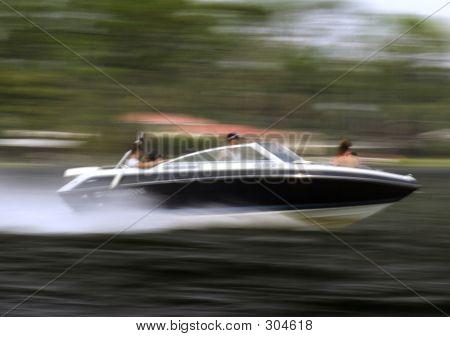 Blue Boat Speed