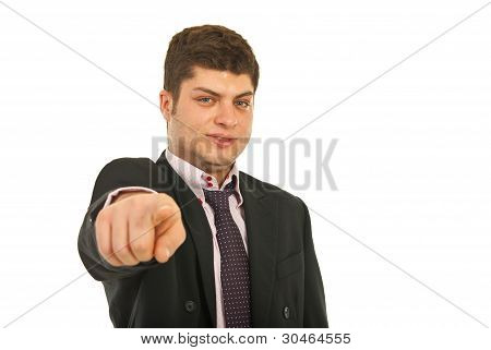 Business Man Pointing To You