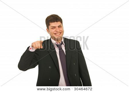 Laughing Business Man Pointing To You
