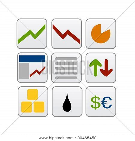 trade and stockmarket icons