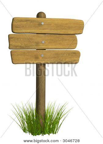 Tabuleta de madeira de três placas