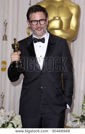 LOS ANGELES - FEB 26:  Michel Hazanavicius arrives at the 84th Academy Awards at the Hollywood & Highland Center on February 26, 2012 in Los Angeles, CA.