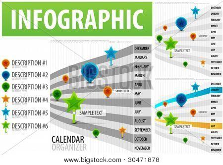 Calendar organizer infographics