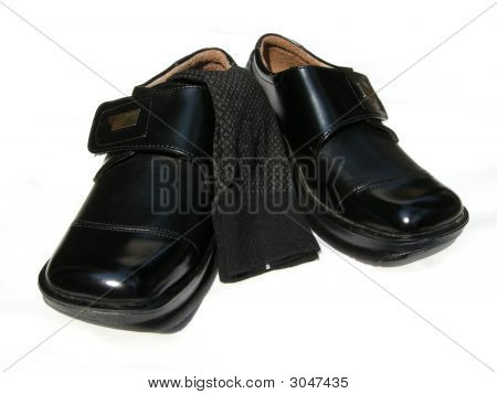 Leather Shoes And Socks