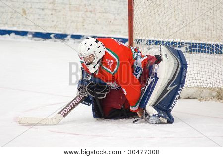 Goaltender Of Hockey Team Scherbinka